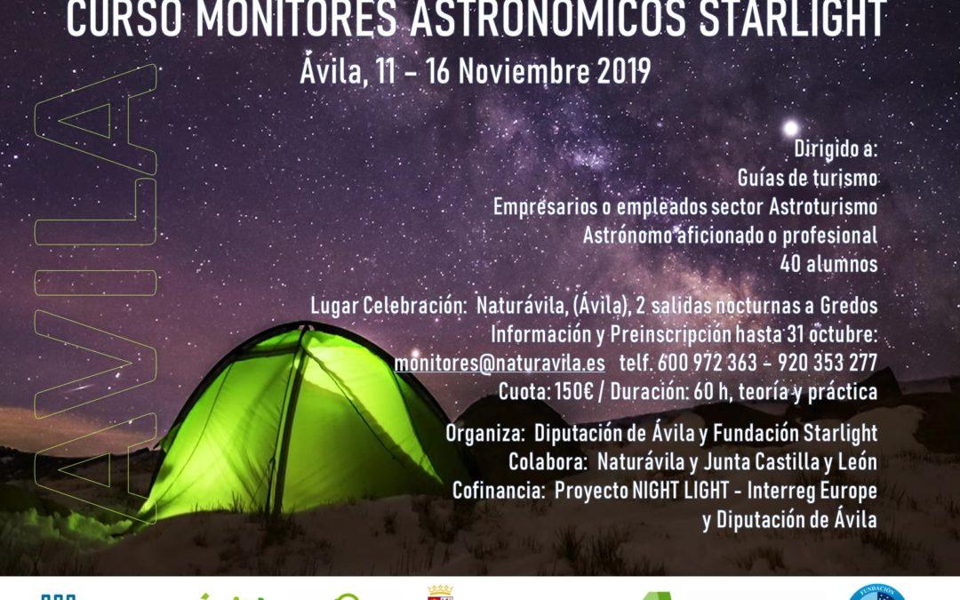 CURSO  MONITORES ASTRONOMICOS STARLIGHT