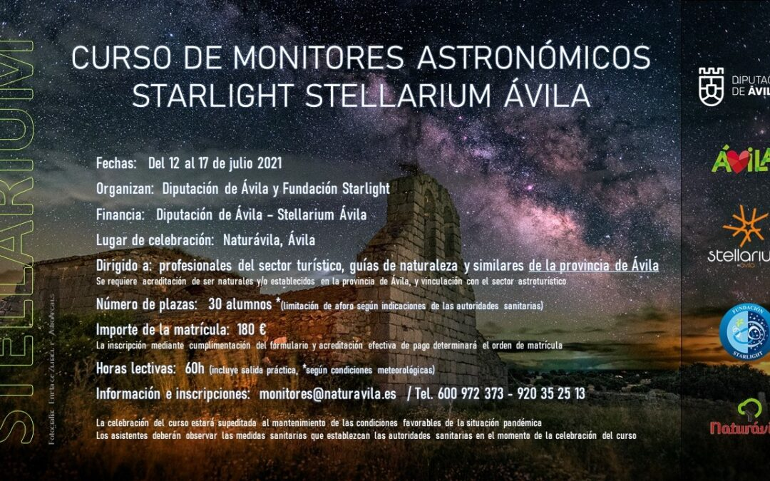 CURSO MONITORES ASTRONOMICOS STARLIGHT STELLARIUM ÁVILA